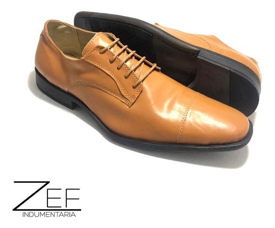 Zapato De Vestir De Hombre Simil Cuero Acordonado