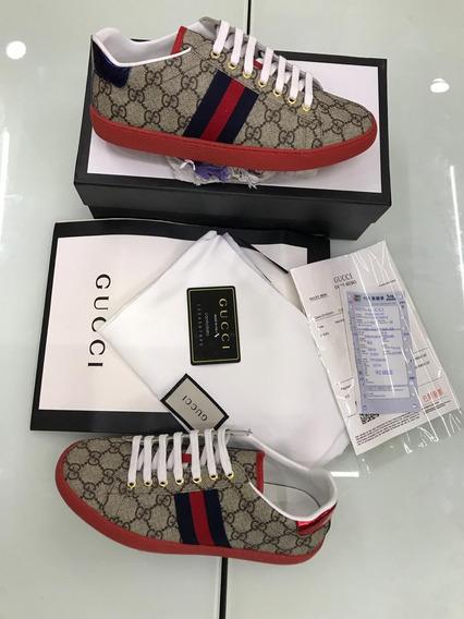 Tenis Gucci Unisex 100% Piel