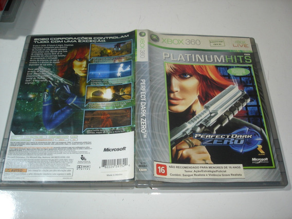 Perfect Dark Zero Xbox 360 Br Midia Fisica Original