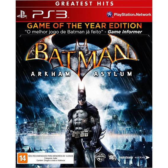 Jogo Batman Arkham Asylum Goty Greatest Hits - Ps3 Usado