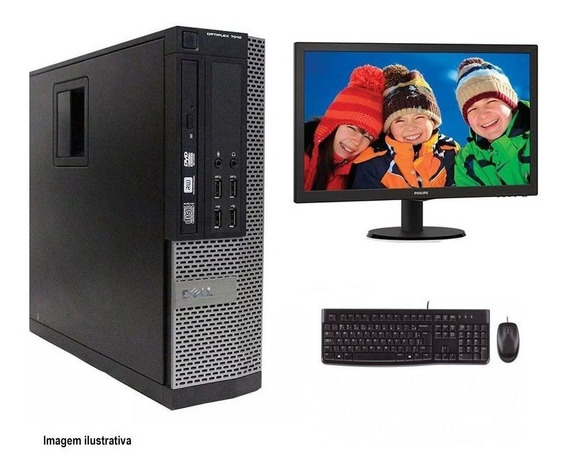Computador Desktop Dell 7010 I7 8gb 120ssd Monitor 21