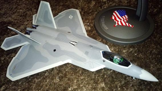 Avião De Caça F-22 Raptor Miniatura Perfeita Metal Fundido