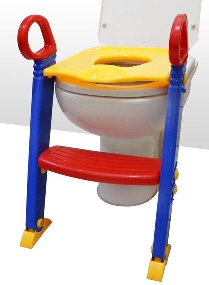 Troninho Infantil Com Escada Assento Redutor Vaso Sanitário