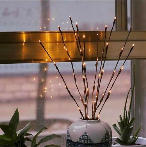 Imagen 1 de 10 de Rama De Sauce Con Luz Led, Decoración Para El Hogar