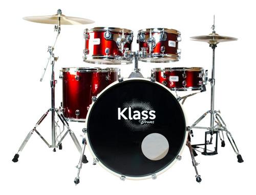 Bateria Klass Drum Studio 2000 Wine Red 2t Bumbo 22