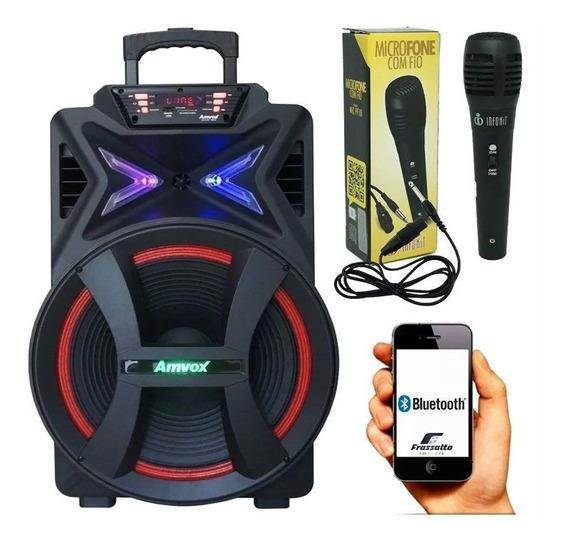 Caixa Som Portátil Amplificada Som 500w Rms Bluetooth Aca501