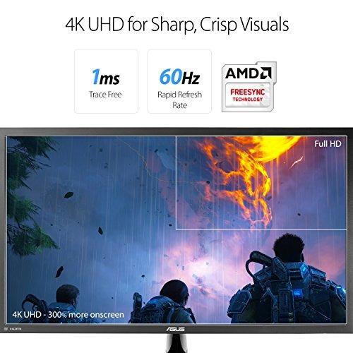 Asus Vp28uqg 28  Monitor 4kuhd 3840x2160 1ms Dp Hdmi Adaptab