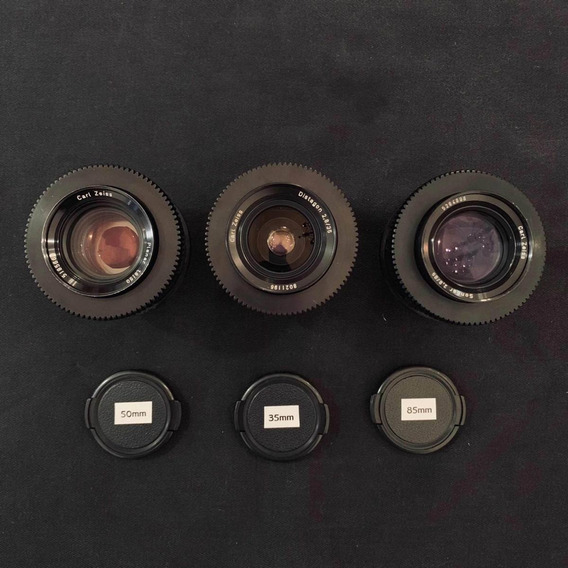Lentes Zeiss 35mm, 50mm E 85mm Mount Pl (arri , Red, Sony)