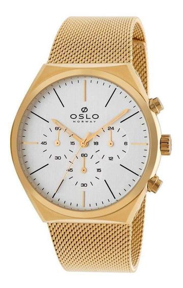 Relógio Oslo Masculino Slim Cronógrafo Omgsscvd0002-s1kx