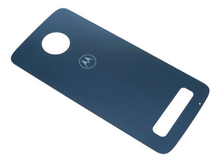 Tapa Trasera Motorola Moto Z3 Play Xt1929 Original Nuevo Cristal Azul Con Adhesivo