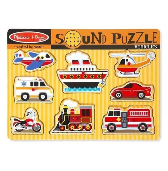 Melissa And Doug - Puzzle De Madera Con Sonido
