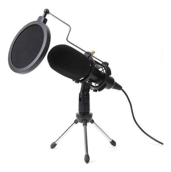 Microfone Usb Com Fio Condensador Microfone Mic Studio Com