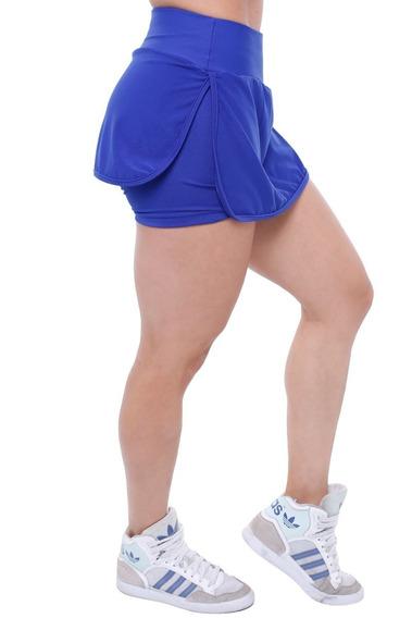 Short Saia Tapa Bumbum Babado Panicat Fitness Academia