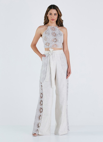 Conjunto Cropped + Calça Pantalona Perfect Way