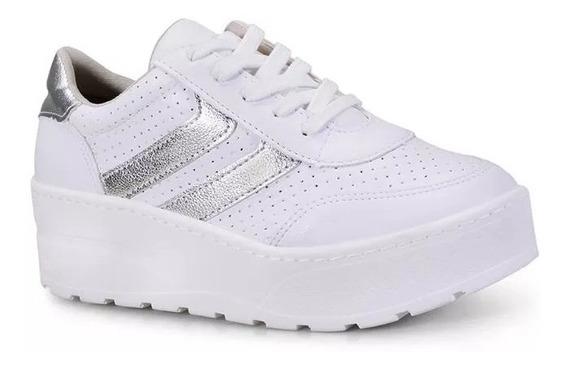 Zapatillas Mujer Blancas Vía Marte 18-8601 Importadas