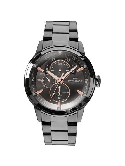 Relógio Technos Masculino Grandtech 6p57ab/4p Preto Rosê