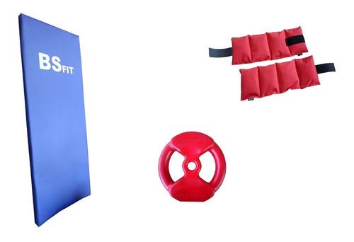 Imagen 1 de 4 de Kit Combo De Colchoneta + Tobillera + Disco 5 Kg Set