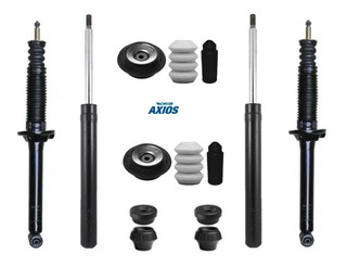 Kit 4 Amortiguadores+ Cazoletas-topes-fuelles Gol Power