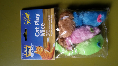 Juguetes De Gatos (ratones) - Paq. 4 Unidades