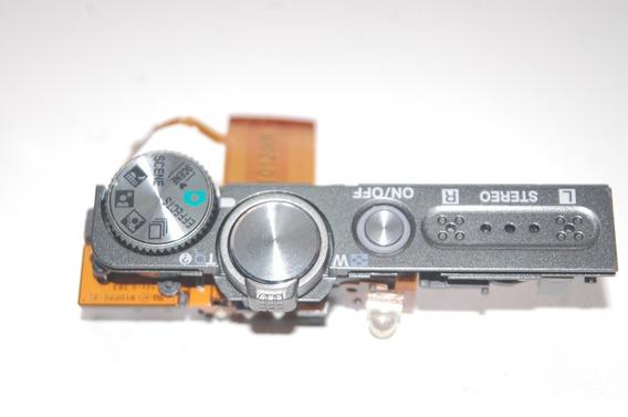 Painel Superior Nikon S9100 Com Botão De Disparo Microfone