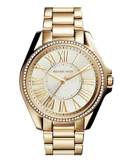 Relógio Pulso Feminino Michael Kors Aço Dourado Mk6184