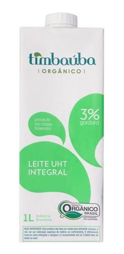 Imagem 1 de 2 de Leite Integral Timbauba Organico 1l