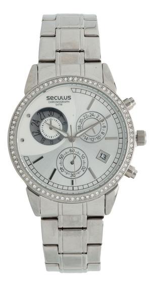 Relógio Feminino Seculus 48053l0sfns1 Prata