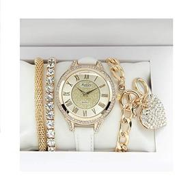 e57b44fac405 Juego De Reloj De Joyería Para Dama Bling-ed Out Con Encanto