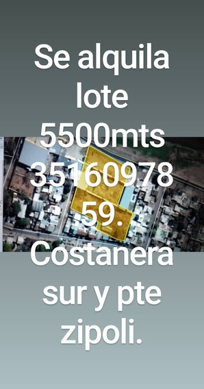 Lote 5500mts Alquilo