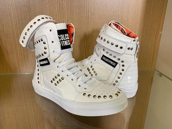 Tênis Sneaker Colcci Fitness - Botinha Treino Hardcore Couro