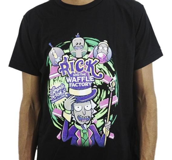 Camiseta Estilo Geek Series Rick Waffle Factory