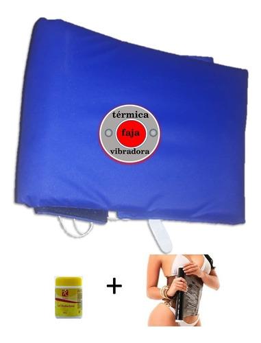 Kit Faja Termovibradora Electrica (faja, Gel Y Osmotico)