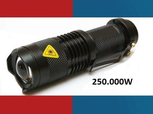 Lanterna Tática Recarregável Cree Led 250000w / 75000 Lumens