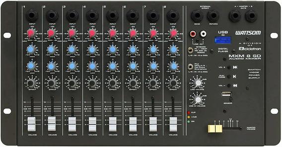 Ciclotron Mesa De Som 8 Canais Mxm-8 Sd Audio Mixer