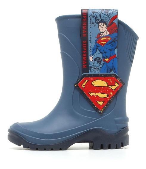 Galocha Infantil Liga Da Justiça Super Man E Batman