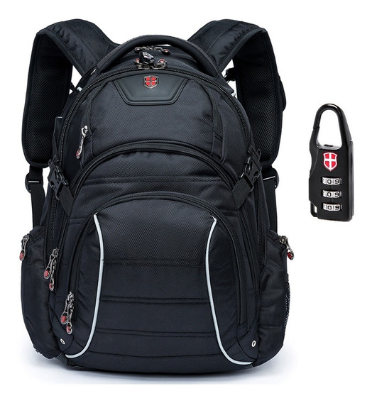 Mochila Executiva Masculina Notebook 30 L Cadeado Swissport