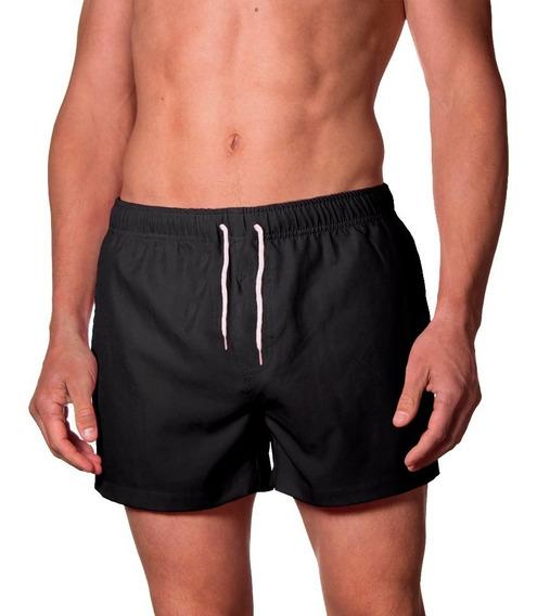 Pack X4 Short De Baño De Hombre Liso Traje Malla