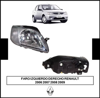 Faro Izquierdo Derecho Renault Logan 2006 2007 2008 2009