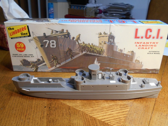 Barco Lindberg Landing Craft Infantry (lci) 1/ 160th Scale