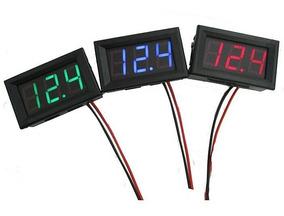 Voltímetro Medidor Tensão Bateria Dc 12/24v P/ Som Automóvel
