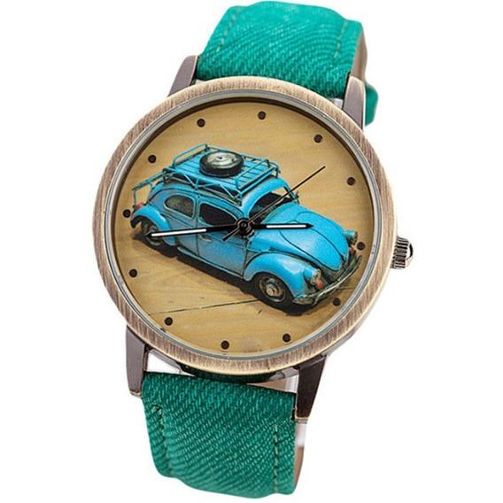 Relógio Personalizado Fusca Estilo Retrô Promoção