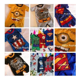 Disfraz Bebe Enterito Body Superheroe Premium Verano Algodon