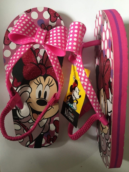 Chinelo Importado Meninas Minnie Mouse Disney Original