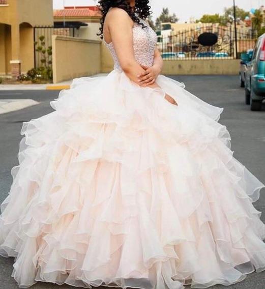 Elegante Vestido De Xv Años Seminuevo Marca Bridenfomal
