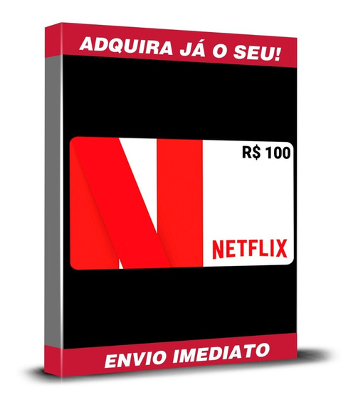 Cartão Pré-pago Presente Netflix R$ 100 Reais Envio Imediato