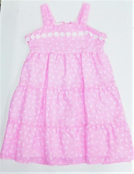 Vestido Casual Sin Manga Bebé Niña #4-6 Color Rosa R
