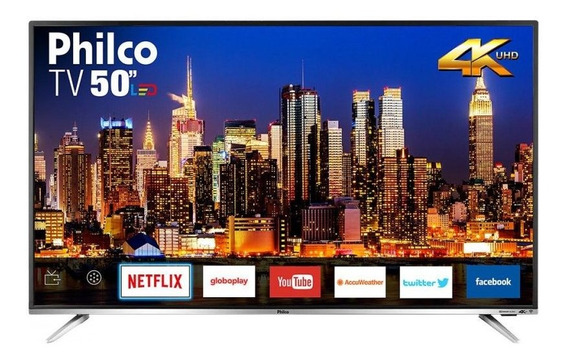 Smart Tv Led 50 Philco Ptv50f60sn Ultra Hd 4k Hdmi, Usb