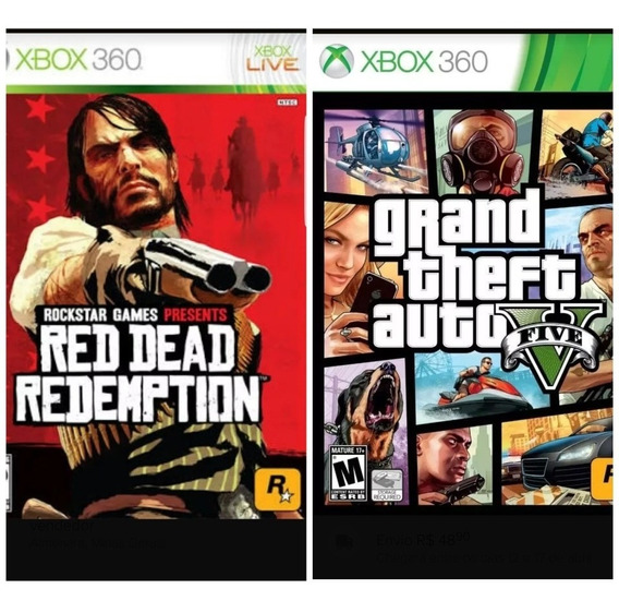 Gta 5 + Red Dead Redemption-xbox 360-midia Digital