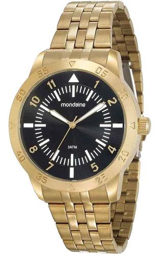 Relógio Masculino Analógico Dourado Mondaine 99205gpmvde1