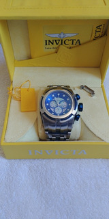 Relógio Invicta Zeus Bolt Prata/azul-12728 Com Caixa